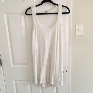 Splendid White Double Layer Dress